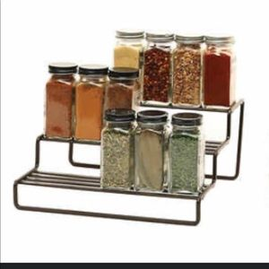 Other - 3-Tier Spice Rack / Kitchen Storage - Metal Bronze